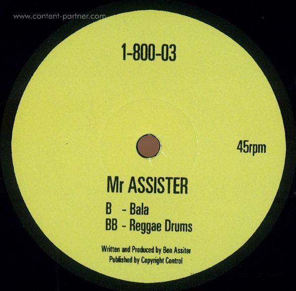 Mr Assister - Bala /Reggae Drums (Back)