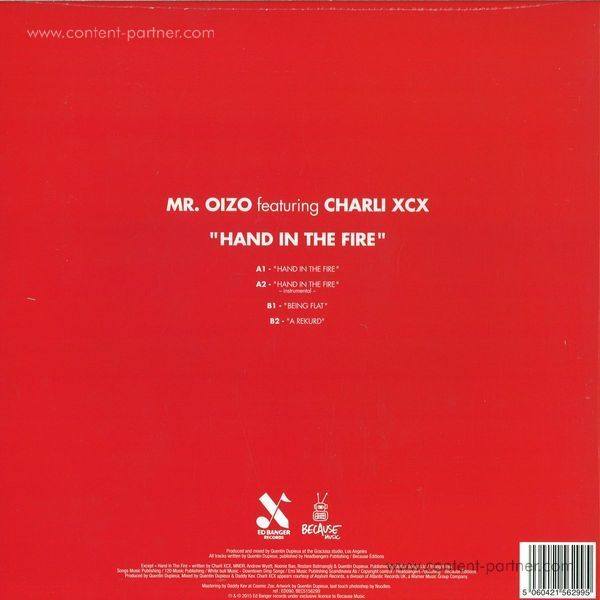 Mr. Oizo - Hand In The Fire (Back)