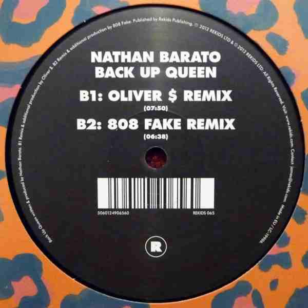 NATHAN BARATO - BACK UP QUEEN (Oliver $ Remix) (Back)