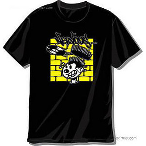 NERVOUS RECORDS - SHIRT (BLACK-YELLOW) M