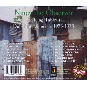 NINEY THE OBSERVER - At King Tubby's-Dub Plate Specials 1973- (Back)