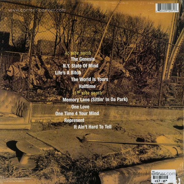 Nas - Illmatic (LP) (Back)
