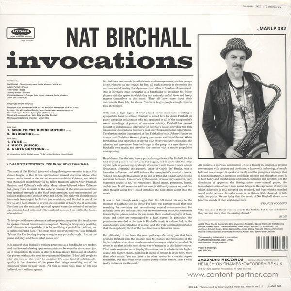 Nat Birchall - Invocations (Back)