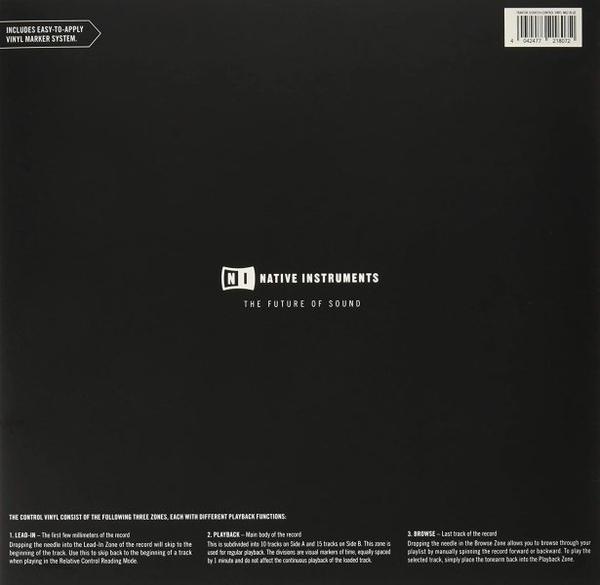 Native Instruments - Control Vinyl MK2 BLAU (Back)