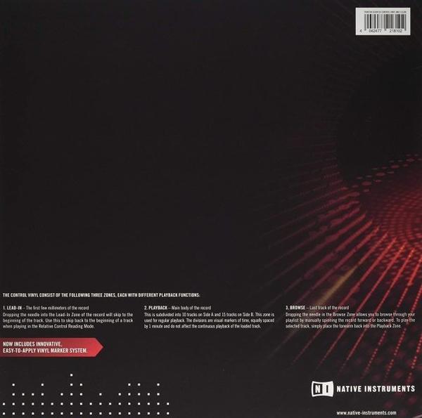 Native Instruments - Control Vinyl MK2 TRANSPARENT (Back)