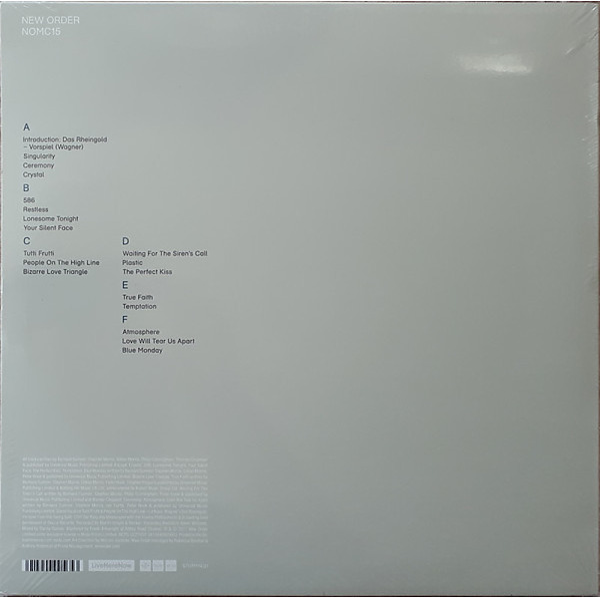 New Order - NOMC15 (3LP+MP3) (Back)