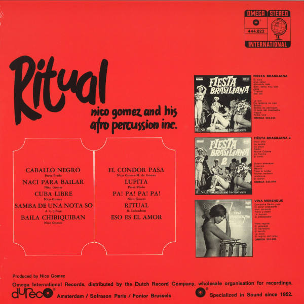 Nico Gomez And His Afro Percussion Inc. - Ritual (Reissue) (Back)
