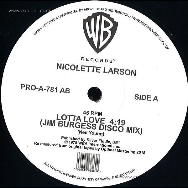 Nicolette Larson - Lotta Love (jim Burgess Disco Mix)
