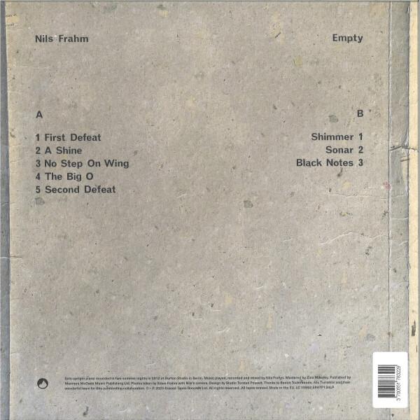 Nils Frahm - Empty (Vinyl LP) (Back)
