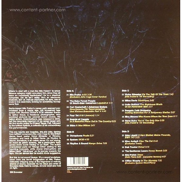 Nils Frahm - Late Night Tales (2LP+MP3/180g/Gatefold) (Back)