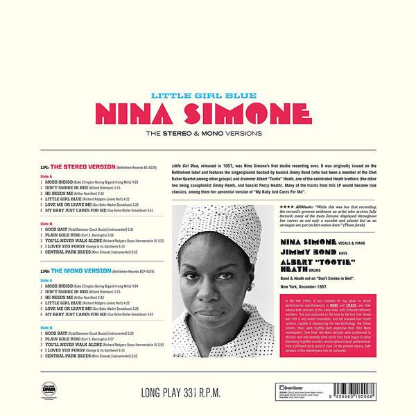 Nina Simone - Little Girl Blue (The Stereo & Mono Versions 2LP) (Back)
