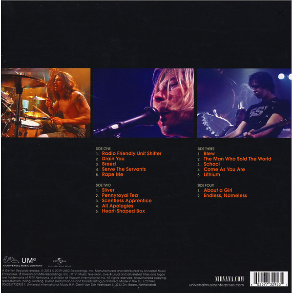 Nirvana - Live And Loud (180g 2LP) (Back)