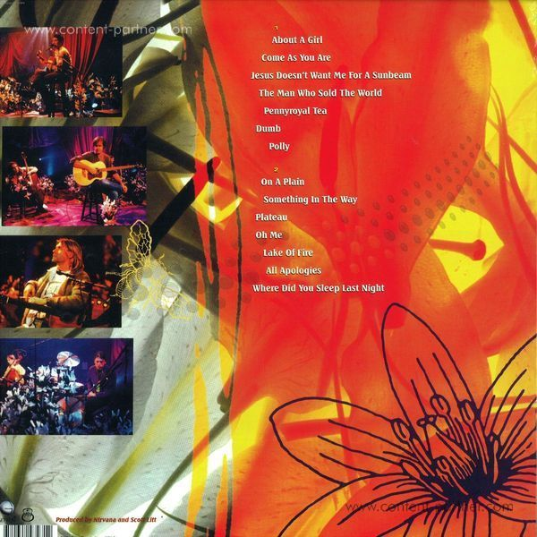 Nirvana - MTV Unplugged in New York (Back)