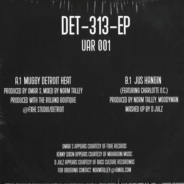 """Omar S / Norm Talley / Moodymann / D Julz - DET 313 EP (12"""") (Back)"""
