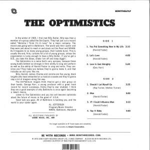 Optimistics - Optimistics (140g Reissue) (Back)