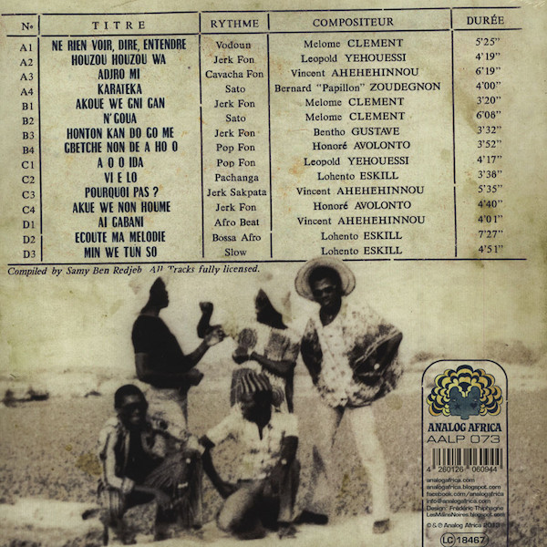 Orchestre Poly-Rythmo De Cotonou - The Skeletal Essences Of Afro Funk (2LP) (Back)