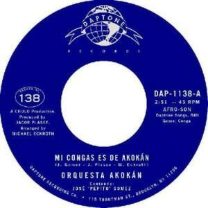 """Orquesta Akokan - Mi Conga es de Akokan / La Guajirar (7"""")"""