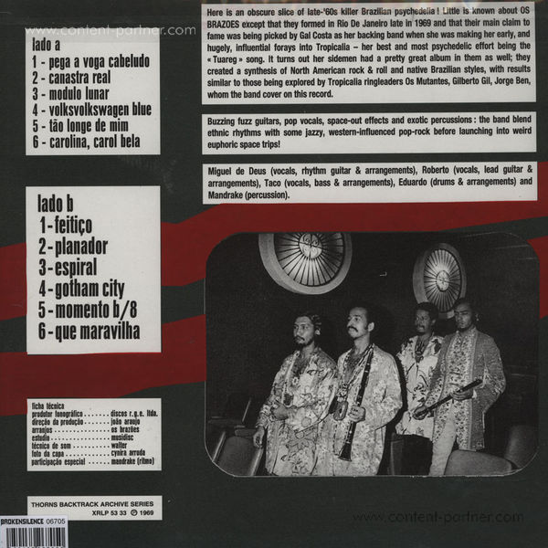 Os Brazoes - Os Brazoes (Reissue) (Back)