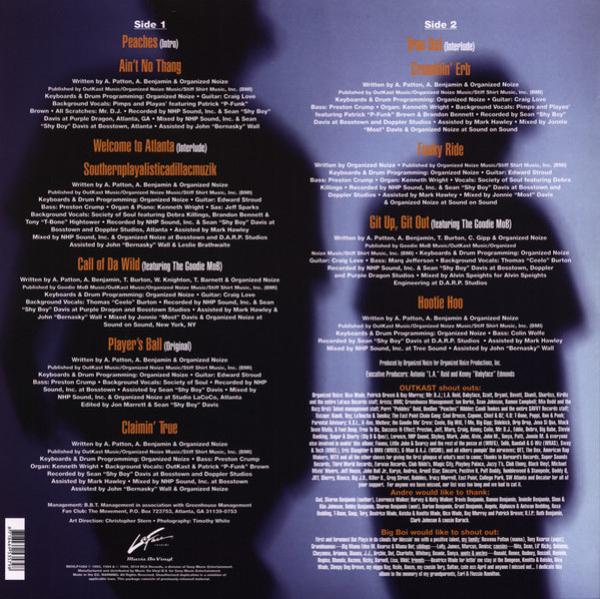 Outkast - Southernplayalisticadillacmuzik (180g Reissue LP) (Back)