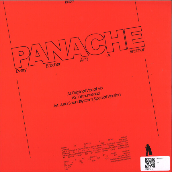 PANACHE - EVERY BROTHER AIN'T A BROTHER (Back)