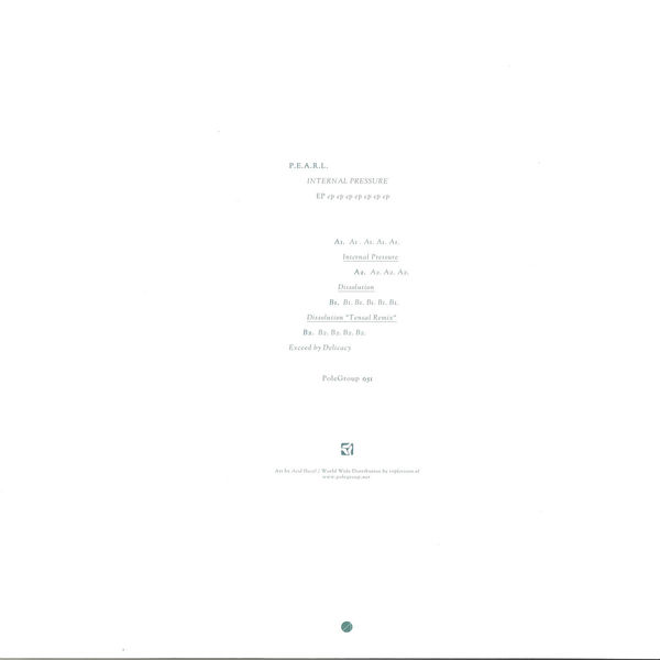 P.E.A.R.L. - Internal Pressure EP (Tensal Remix) (Back)