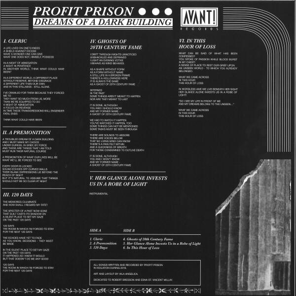 PROFIT PRISON - DREAMS OF A DARK BUILDING EP (Back)