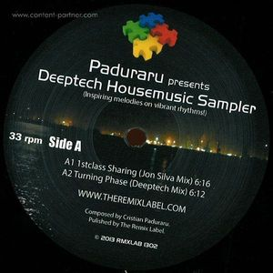 Paduraru presents Deeptech Housemusic - Rhadoo & Jon Silva Remixes (back in)