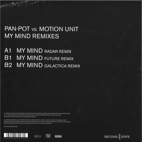 Pan-Pot vs. Motion Unit - My Mind Remixes (Back)