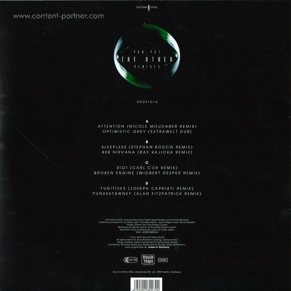Pan-Pot - The Other Remixes (Back)