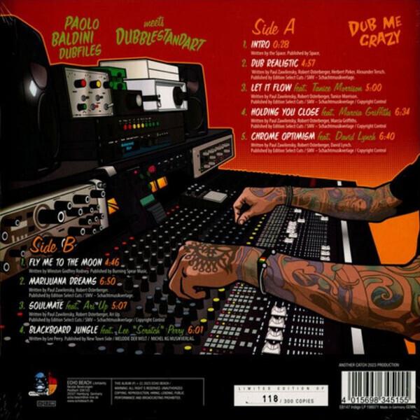 Paolo Baldini DubFiles meets Dubblestandart - Dub Me Crazy (LP+CD) (Back)
