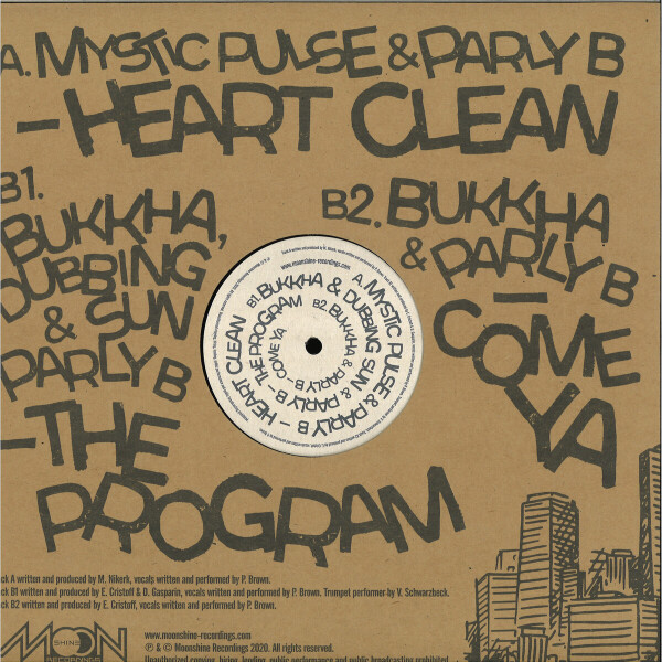 Parly B / Bukkha / Dubbing Sun / Mystic Pulse - Moonshine Recordings meets Parly B downtown (Back)