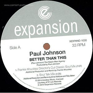 Paul Johnson - Better Than This (mixes)