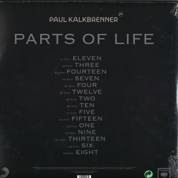 Paul Kalkbrenner - Parts of Life (2LP+CD) (Back)