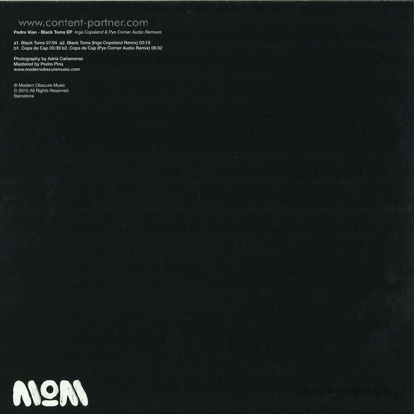 Pedro Vian - Black Toms EP (Back)