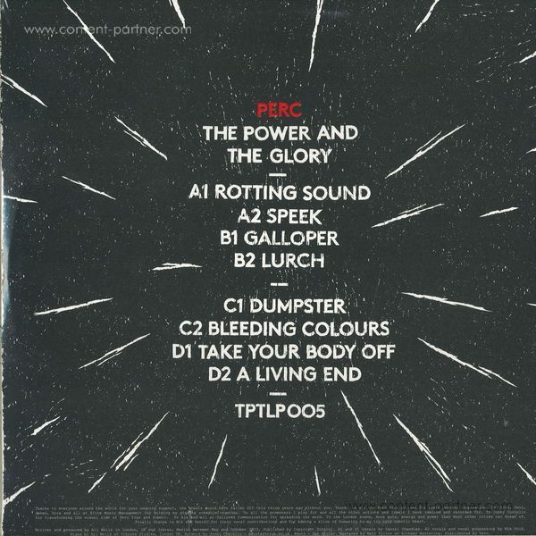 Perc - The Power & The Glory (Back)
