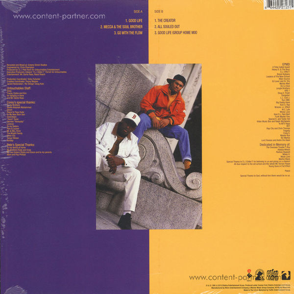 Pete Rock & CL Smooth - All Souled Out (LP) (Back)