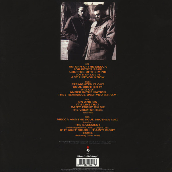 Pete Rock & C.L. Smooth - Mecca & The Soul Brother (2LP, 180g) (Back)