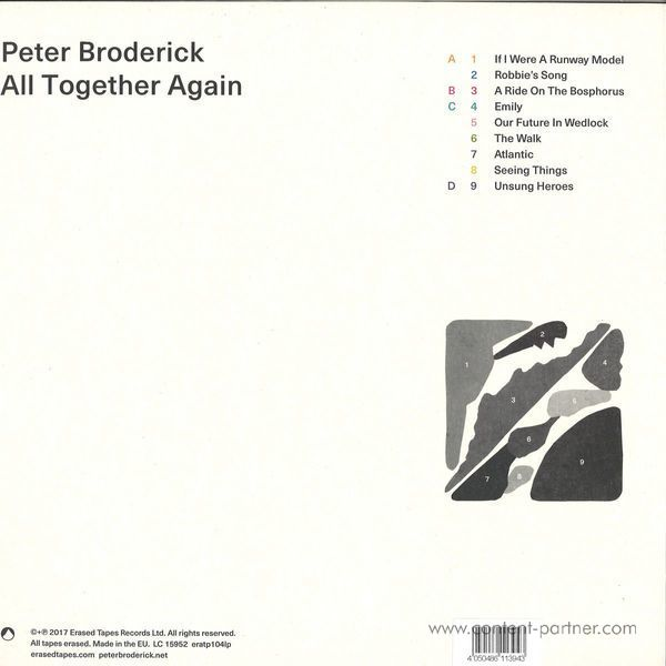 Peter Broderick - All Together Again (2LP+MP3) (Back)