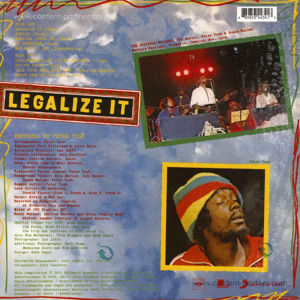 Peter Tosh - Legalise It (180g 2LP) (Back)
