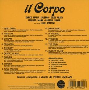 Piero Umiliani / OST - Il Corpo (CD) (Back)