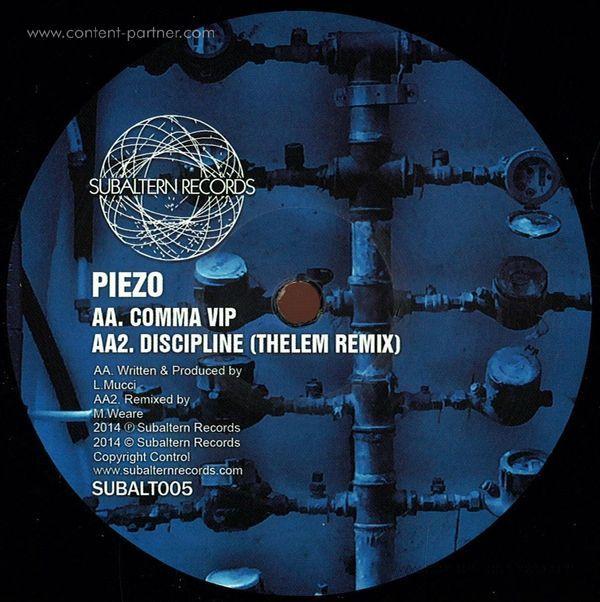 Piezo - Discipline Ep (Back)