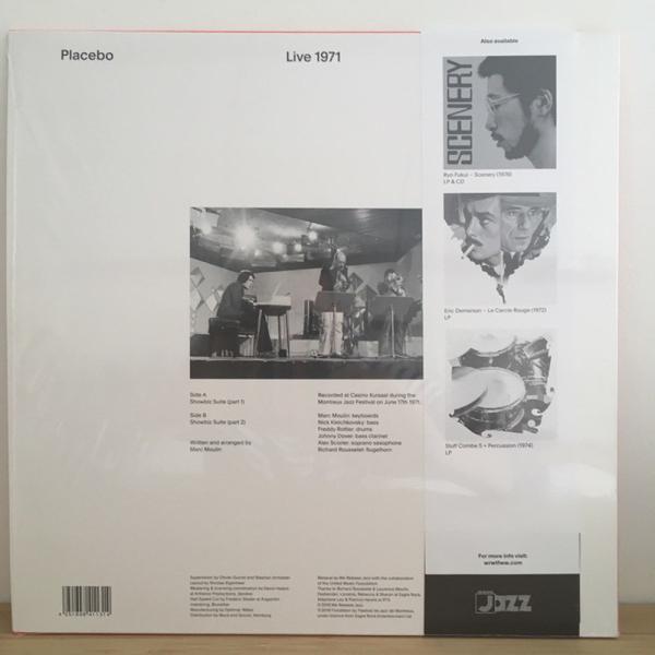 Placebo (Marc Moulin) - Live 1971 (180g half speed mastered) (Back)