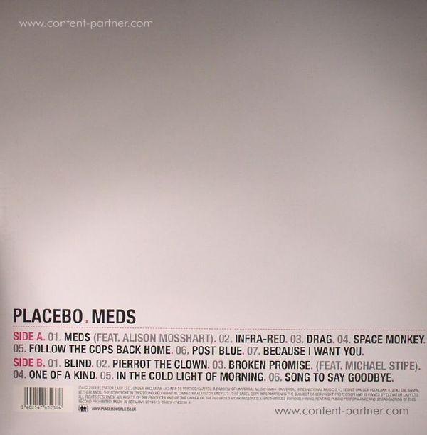 Placebo - Meds (Black LP) (Back)