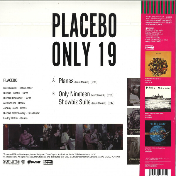 Placebo - Only 19 (Back)