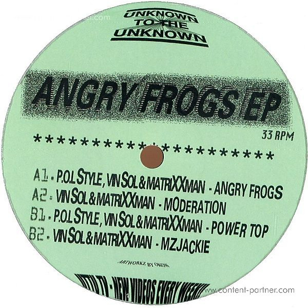 Pol Style, Vin Sol & Matrixxman - The Angry Frogz Ep (Back)