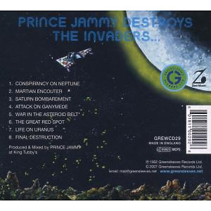 Prince Jammy - Destroys The Invaders (Back)