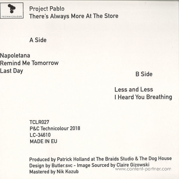 Project Pablo - There Is Always More At The Store (Back)