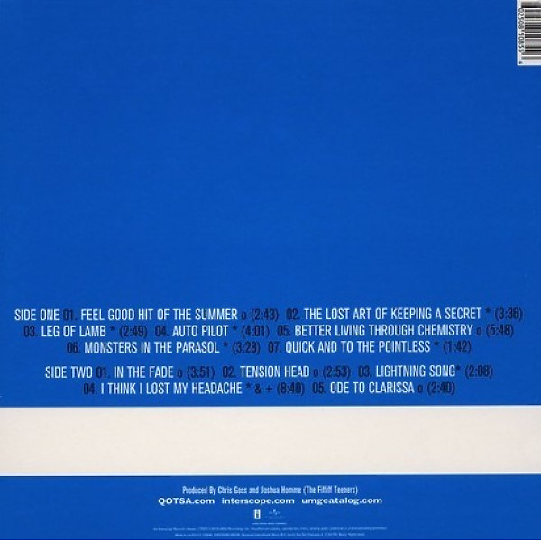 Queens Of The Stone Age - Rated R (180g Reissue 2019) (Back)
