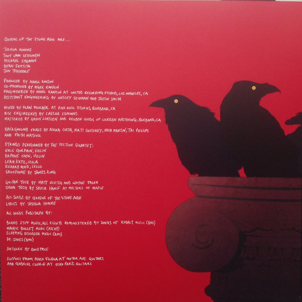 Queens Of The Stone Age - Villains (Ltd. Deluxe Edition incl. Artwork Cards) (Back)