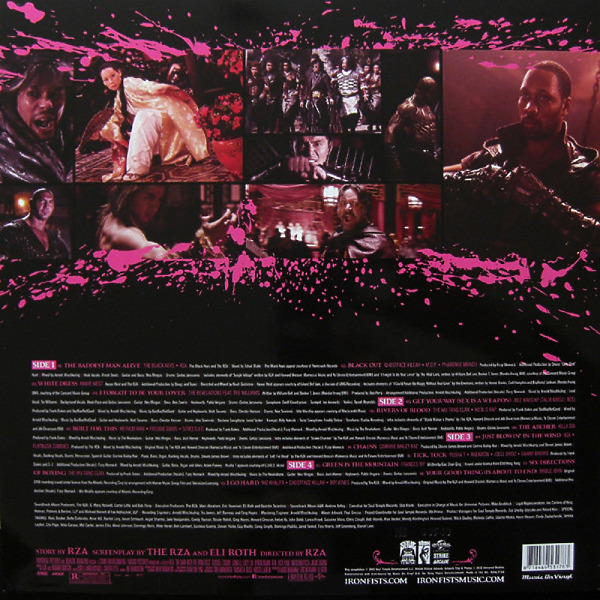 Quentin Tarantino Presents / V.A. - Man With The Iron Fists (OST) (Ltd. Coloured 2LP) (Back)